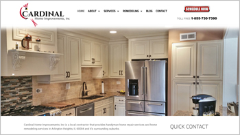Local Web Design for Contractor in Arlington Heights