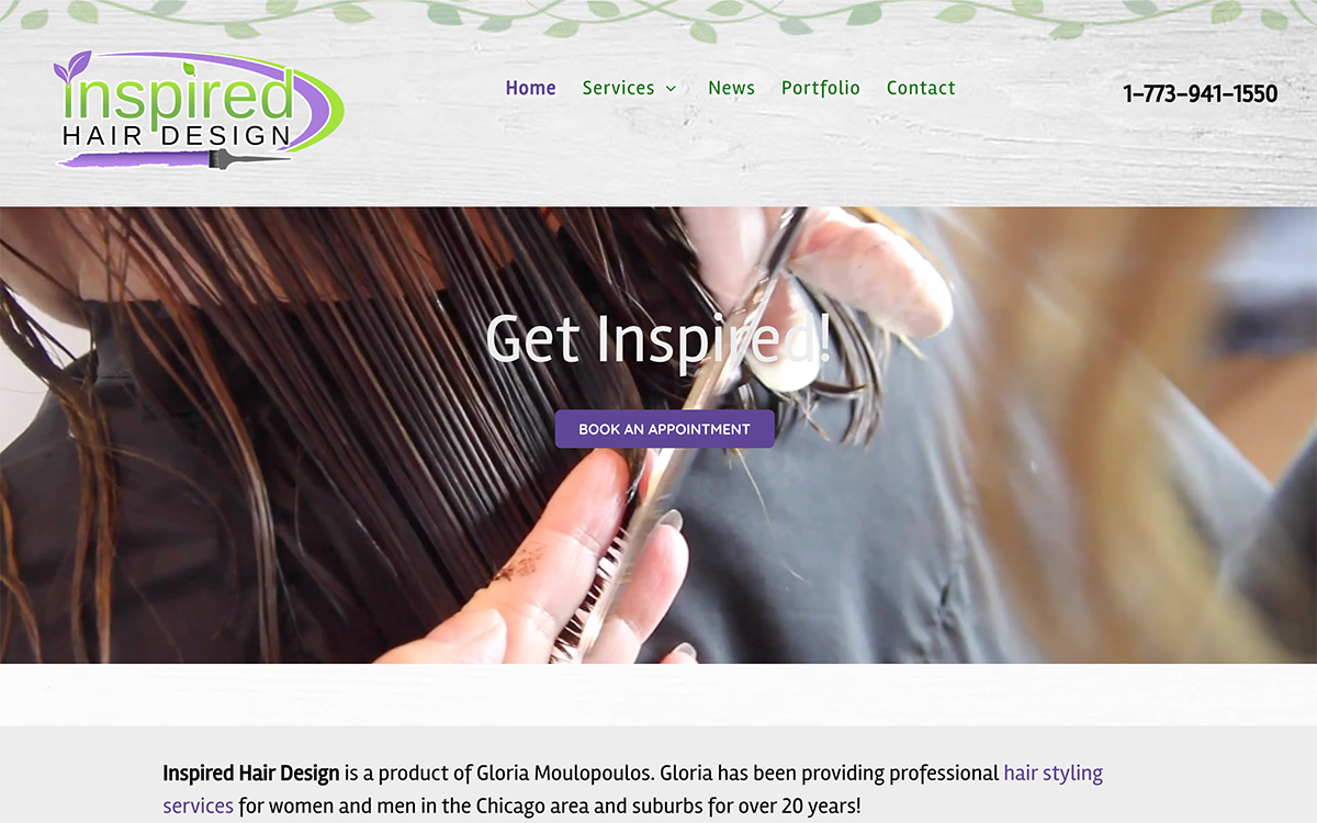 Hair Salon Website Design Chicago