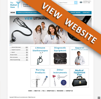 e-Commerce Website Design for Student Medical Store in Arlington ...