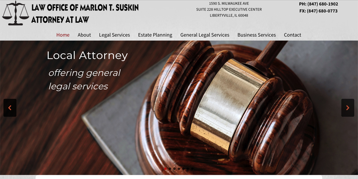 Attorney Legal Website Design Libertyville