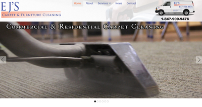 Contractor Web Design Palatine EJs Carpet Cleaning