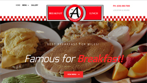 Restaurant web design &  Food Photography in Roselle Mr As