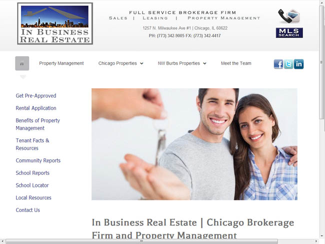 WEB SITE SAMPLE - In Business--LARGE