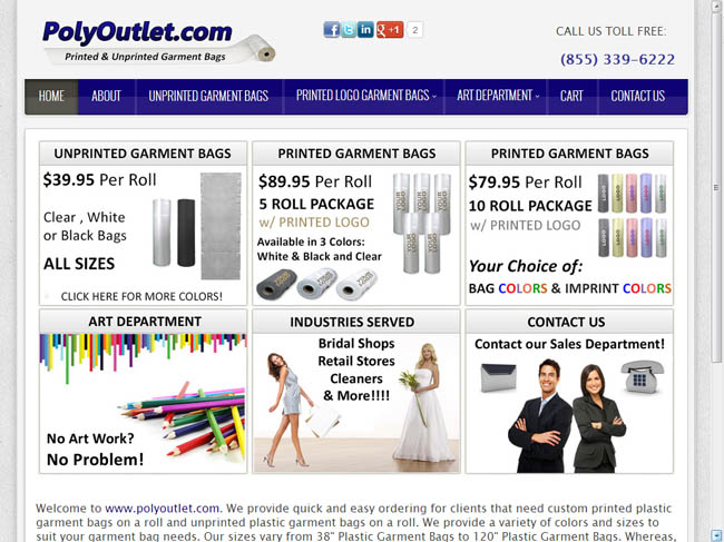 WEB SITE SAMPLE - POLY OUTLET--LARGE
