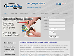 small-WEB DESIGN contractor SMART CHOICE ELECTRICIAN